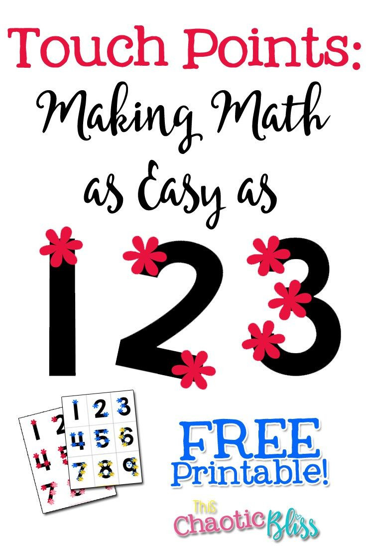 Touch Math Worksheet Generator touch Points Making Math as Easy as 1 2 3 Free Printable