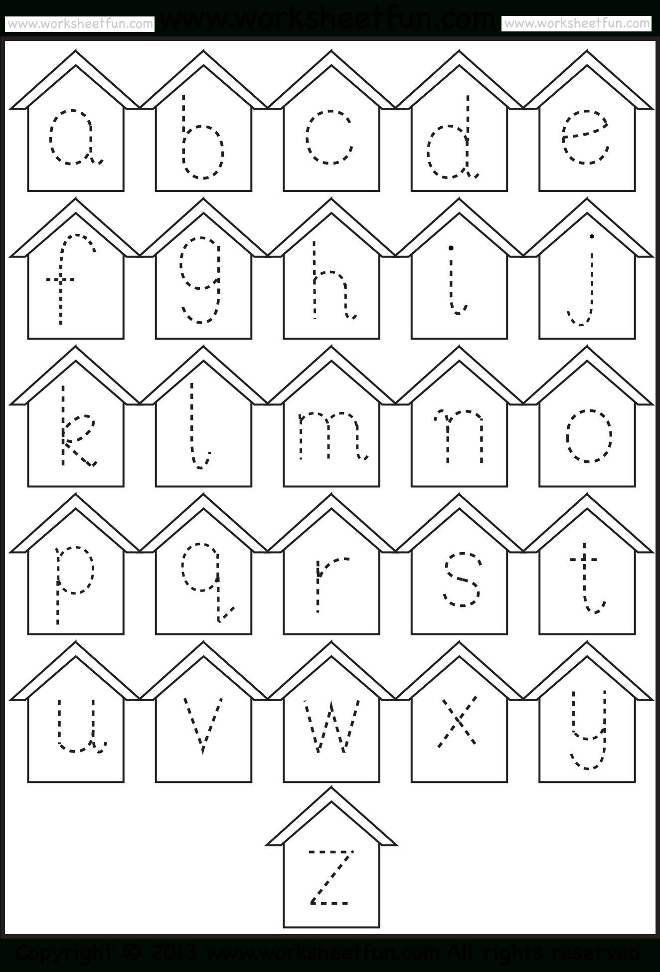 Tracing Lowercase Letters Printable Worksheets Lower Case Letter Tracing Worksheet Printable Worksheets and