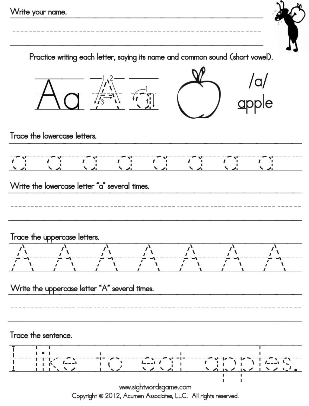 Tracing Lowercase Letters Printable Worksheets Worksheet Cursive Practice Alphabet Free Writing Sheets