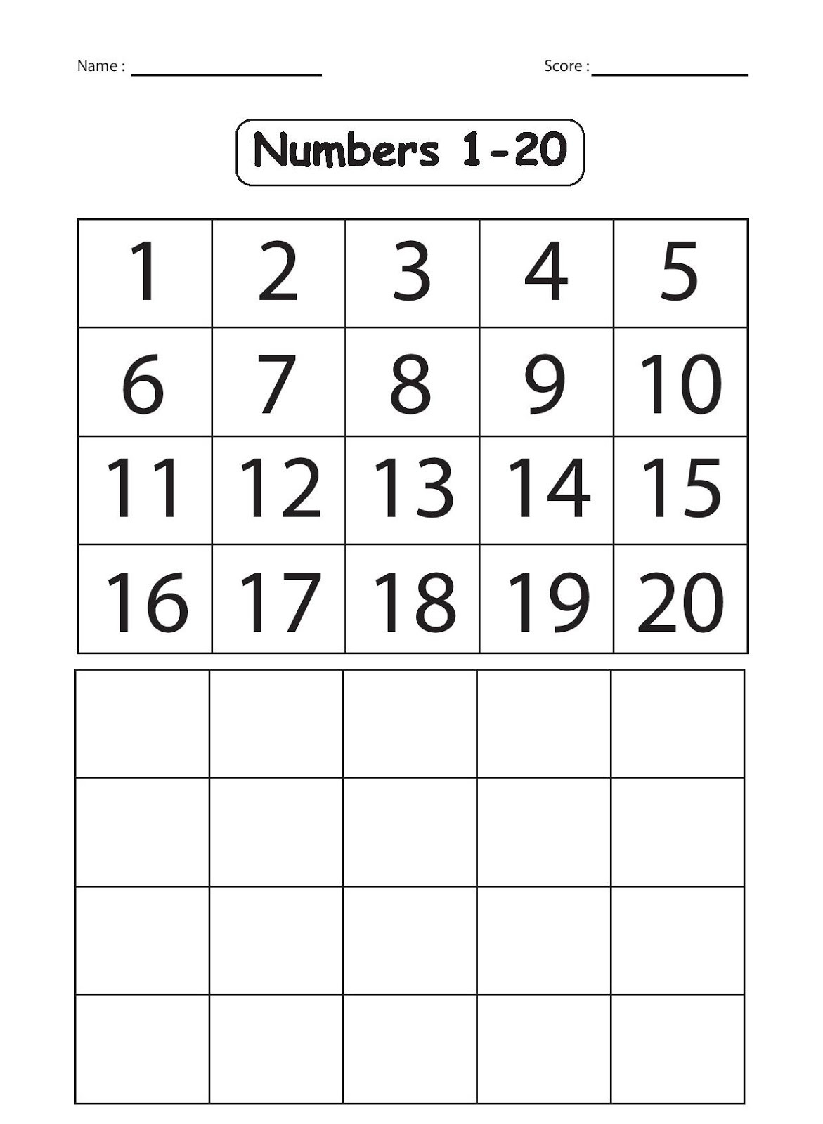 Tracing Numbers 1 20 Printable Number Writing Practice 1 20