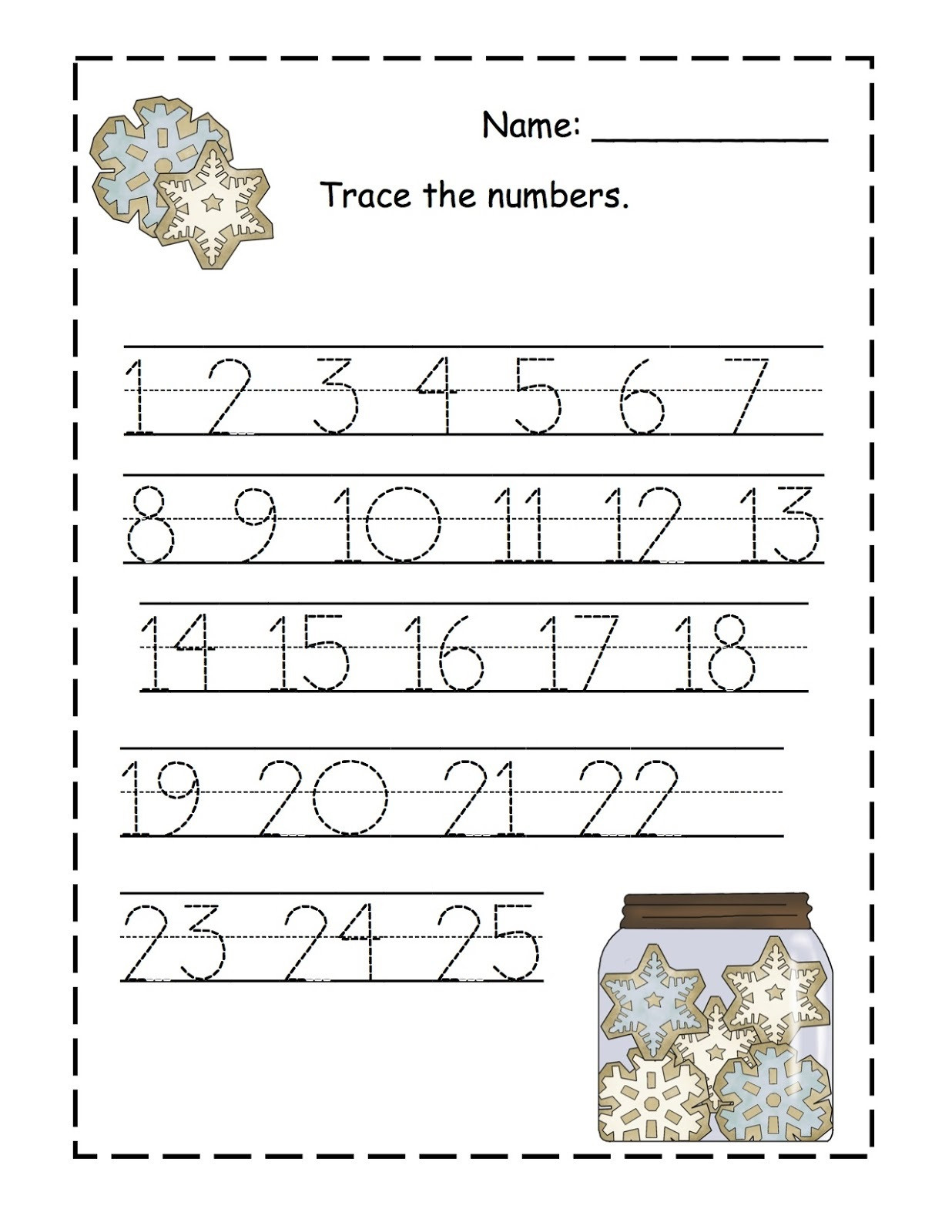 Tracing Numbers 1 20 Printable Trace Numbers 1 100