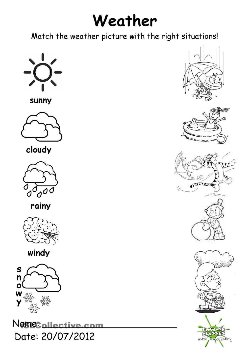 Weather Worksheets for 2nd Grade 20 Weather Worksheets for Kindergarten